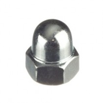 Hexagon Domed Nut Steel Bright Zinc Plated