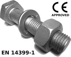 M12 x 50mm Hex Set Screw 8.8 C/W N W HDG