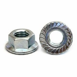 M5 Hex Flanged Nut Steel 8.8 BZP