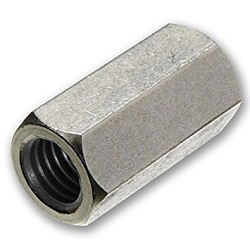 M10-1.50P Hexagonal Stud Connector BZP