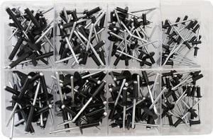 Assortment Box - Assorted Rivets Black